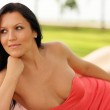Attractive model relaxing in the park — Stock Photo #7456544