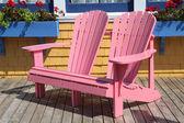 Double Adirondack Chairs — Stock Photo