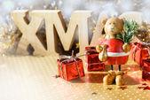 Bear with Christmas tree — Stock Photo