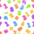 Seamless Preschool Numbers — Stock Photo