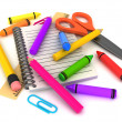 Preschool Supplies — Stock Photo