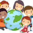 Royalty-Free Stock Photo: Earth Kids