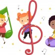 Music Kids - Stockfoto
