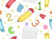 Preschool Seamless Background — Stock Photo