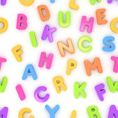 Preschool Seamless Alphabet — Stock Photo