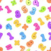 Seamless Preschool Numbers — Stock Photo