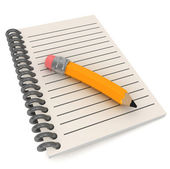 Preschool Notepad — Stock Photo
