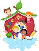 School van apple — Stockfoto