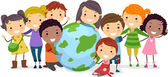 Earth Kids — Stockfoto