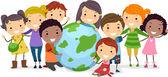 Kinderen van de aarde — Stockfoto