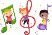 Müzik çocuklar — Stok fotoğraf