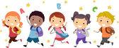 Běžící děti — Stock fotografie