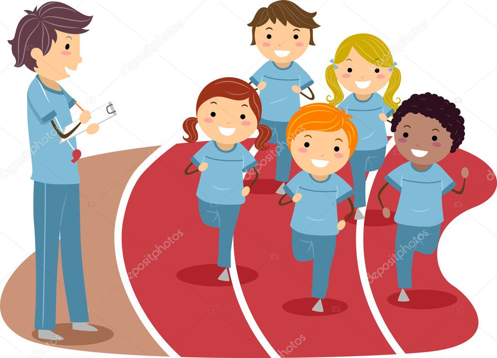 Physical Education — Stock Photo © lenmdp #6856764