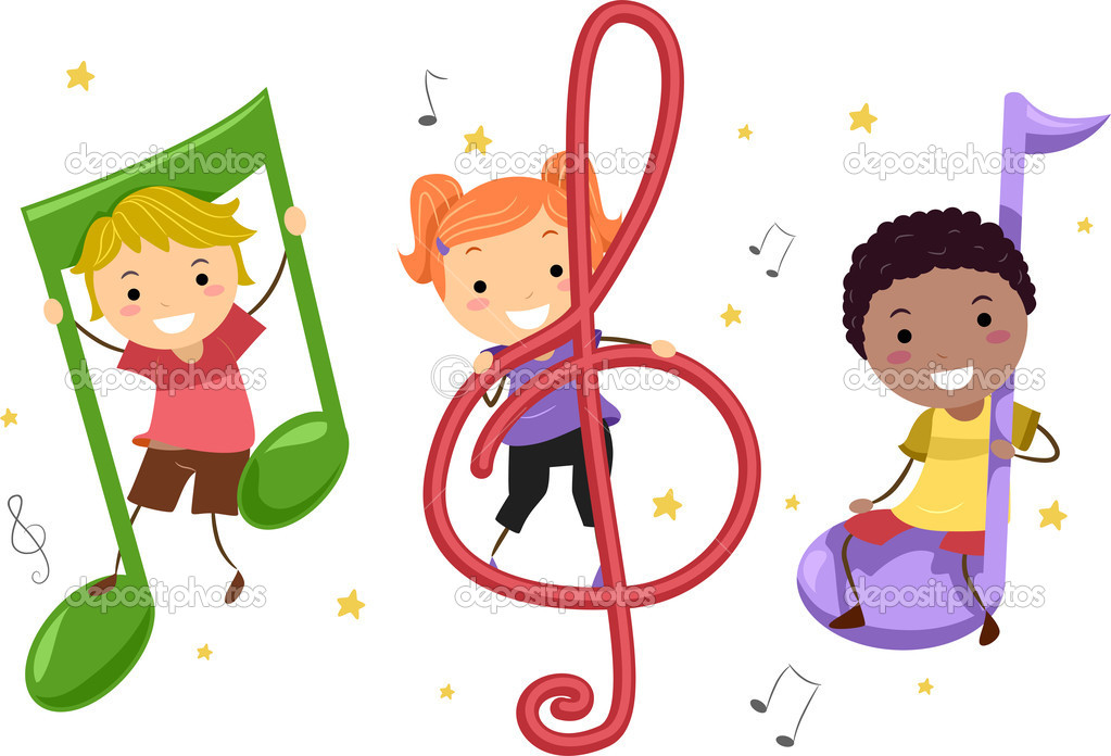 Music kids stock image