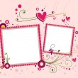 Stock Photo: Hearts Frame