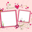 Royalty-Free Stock Photo: Hearts Frame
