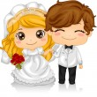 Kiddie Wedding - Stock Photo