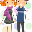 Stick Figure Couple — Stock Photo