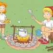 Camp Cook — Stock Photo #7475038