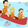 Camp Boating - Stock Photo