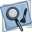 Investigator Icon — Stock Photo