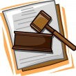 Law Icon — Stockfoto
