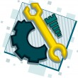 Mechanic Icon — Stock Photo