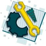Mechanic Icon — Stock Photo