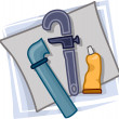 Plumber Icon — Stock Photo