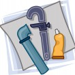 Plumber Icon — Stock Photo #7475191