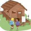 Camp Cabin - Stock Photo
