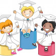Kids Graduation Level - Stock Photo