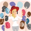Hat Lady — Stockfoto