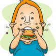 Man Eating a Burger — Stock Photo