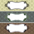 Baroque Frame Web Banner — Stock Photo