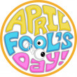 April Fool's Day Icon — Stock Photo