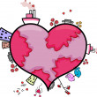 Heart-shaped World — Stock Photo