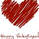 boceto de San Valentín — Foto de Stock