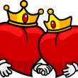 King and Queen of Hearts — Stock Photo #7476103