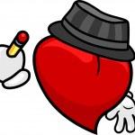 Heart Writing — Stock Photo