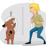 Funny Dog Peeing — Stock Photo #7476237