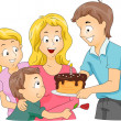 Mother's Day Cake - Stock Photo