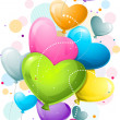 Heart-shaped Balloons — Stock Photo