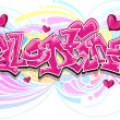 Valentine Graffiti — Stock Photo