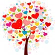 Valentine Tree — Stock Photo