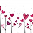 Valentine Trees — Stock Photo