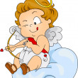 Baby Cupid Preparing to Shoot — Stock Photo