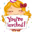 Stock Photo: Birthday Invitation