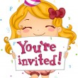Birthday Invitation — Stock Photo