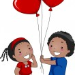 Valentine Balloon — Stock Photo